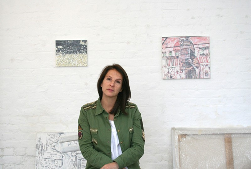 Jules Clarke in her London studio